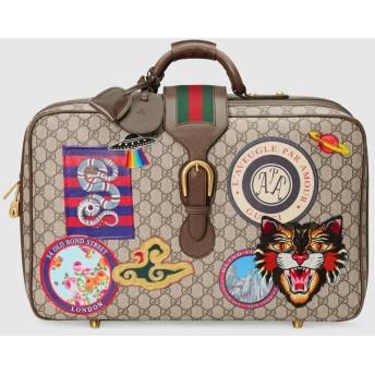 〔グッチ クーリエ〕GGスプリーム キャンバス スーツケース