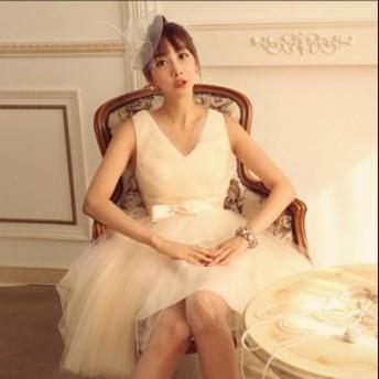 パーティードレス ワンピースドレス 結婚式 ドレス お呼ばれ ワンピース お呼ばれドレス 卒業式 二次会 長袖 20代 30代 H127