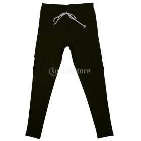 レディース 弾性 ペンシルパンツ カジュアル マルチポケット パンツ ロングパンツ ズボン 全4色5サイズ選べる - 緑, L
