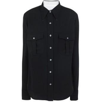 《期間限定セール開催中!》CALVIN KLEIN レディース シャツ ブラック 36 ポリエステル 100% SMOOTH TWILL POLICE PKT SHIRT LS
