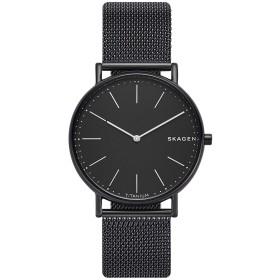 《セール開催中》SKAGEN メンズ 腕時計 ブラック チタン / ステンレススチール SKW6484 SIGNATUR SLIM