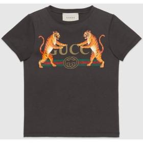 〔チルドレンズ〕オンライン限定 GUCCI ロゴ&タイガー Tシャツ