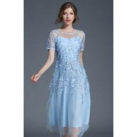 パーティードレス ワンピースドレス 結婚式 ドレス お呼ばれ ワンピース お呼ばれドレス 卒業式 二次会 長袖 20代 30代  N017