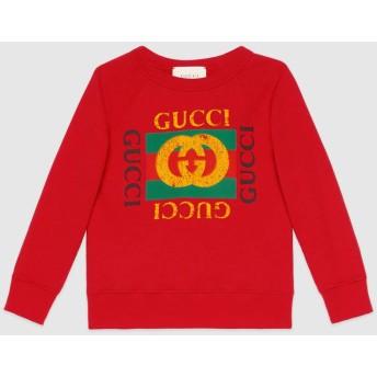 〔チルドレンズ〕Gucci プリント スウェットシャツ