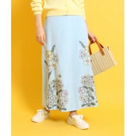 Couture Brooch(クチュールブローチ) フラワー刺しゅうロングスカート