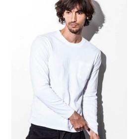 SHIFFON / シフォン 【NUMBER (N)INE DENIM】ポケットクロスデザインロングTシャツ