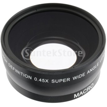 55mm 0.45X 広角&マクロレンズ 変換レンズ ソニー/キャノン/ニコンカメラ 互換性