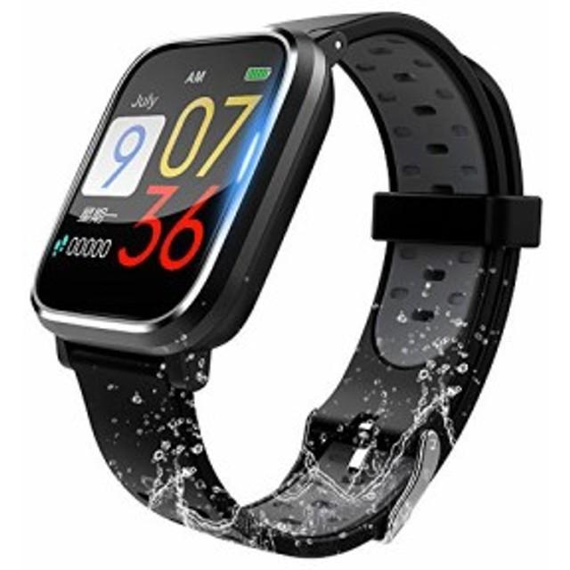 829153f160 【最新版】スマートウォッチ 血圧計 心拍計 歩数計 スマートブレスレット 活動量