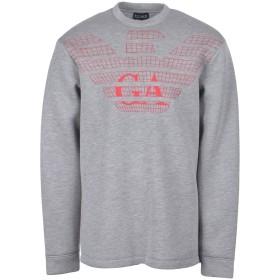 《期間限定 セール開催中》EMPORIO ARMANI メンズ スウェットシャツ レッド S レーヨン 100%
