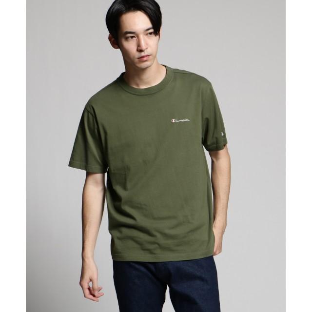 tk.TAKEO KIKUCHI(ティーケー タケオ キクチ) Champion for tk.TAKEO KIKUCHI ロゴ刺繍Tシャツ