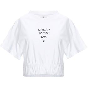 《期間限定セール開催中!》CHEAP MONDAY レディース T シャツ ホワイト L オーガニックコットン 100%
