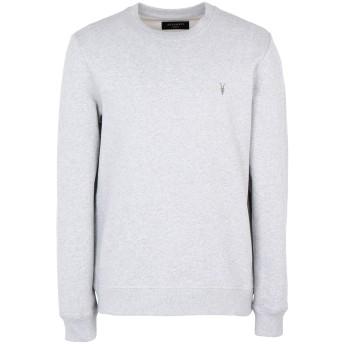 《期間限定セール開催中!》ALLSAINTS メンズ スウェットシャツ グレー L コットン 100%