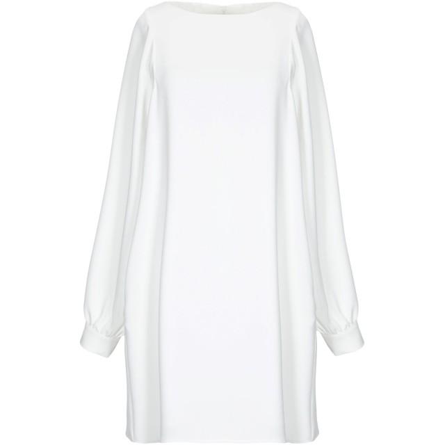 《期間限定セール開催中!》ANNIE P. レディース ミニワンピース&ドレス ホワイト 40 ポリエステル 100%