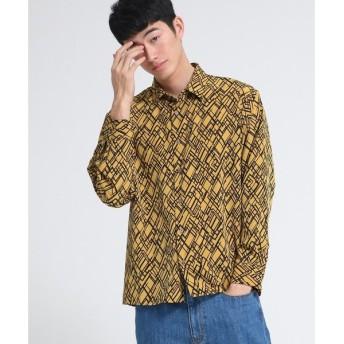 tk.TAKEO KIKUCHI / ティーケー タケオキクチ ランダムダイヤプリントシャツ
