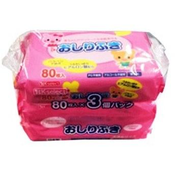 昭和紙工 K-select おしりふき 80枚入×3個パック