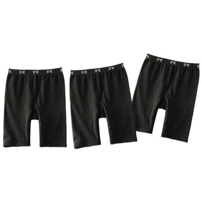綿混伸びーる3分丈ショーツ3枚組 3分丈・ロング丈ショーツ,Panties