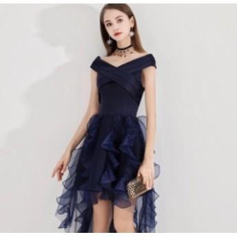 パーティードレス ワンピースドレス 結婚式 ドレス お呼ばれ ワンピース お呼ばれドレス 卒業式 二次会 長袖 20代 30代 Y007
