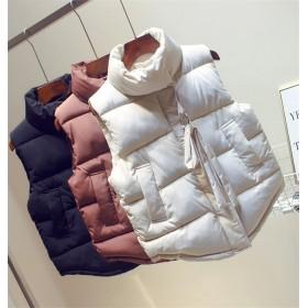 韓国ファッション CHIC気質 カジュアル 綿入れダウンコート ベスト