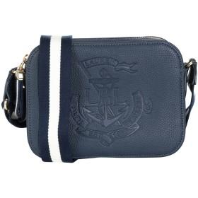 《期間限定セール開催中!》LAUREN RALPH LAUREN レディース メッセンジャーバッグ ダークブルー 牛革 100% Anchor Leather Camera Bag