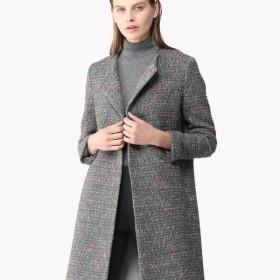 【Theory】Loop Tweed Crewneck Coat
