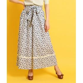 Couture Brooch(クチュールブローチ) ◆【洗える】リボンベルトフラワーワイドパンツ