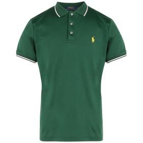 《期間限定セール開催中!》POLO RALPH LAUREN メンズ ポロシャツ グリーン S コットン 100% Custom Slim Soft Touch Polo