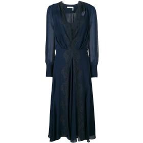 Chloé レーストリム ドレス - ブルー