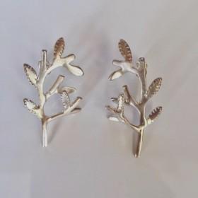 Silver925オリーブの木のピアス