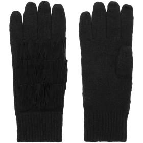 《9/20まで! 限定セール開催中》AUTUMN CASHMERE レディース 手袋 ブラック one size カシミヤ 100% / 羊革(シープスキン)