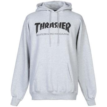 《9/20まで! 限定セール開催中》THRASHER メンズ スウェットシャツ ライトグレー S コットン 85% / ポリエステル 15%