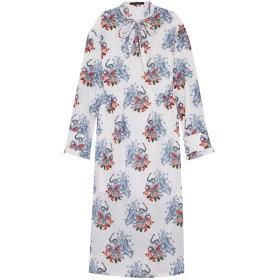 《セール開催中》MOTHER OF PEARL レディース 7分丈ワンピース・ドレス ホワイト 8 コットン 69% / シルク 31%
