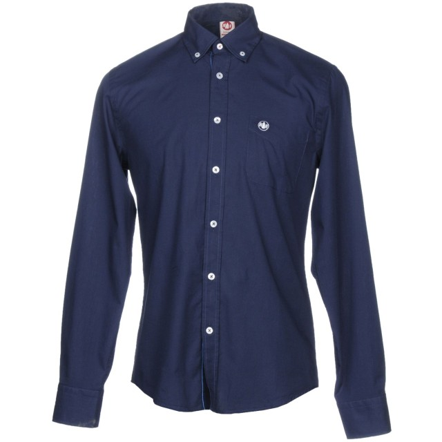 《セール開催中》MURPHY & NYE メンズ シャツ ダークブルー M コットン 100%