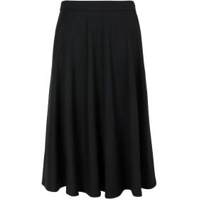 《期間限定 セール開催中》CALVIN KLEIN レディース 7分丈スカート ブラック 36 ポリエステル 54% / ウール 44% / ポリウレタン 2% WOOL TWILL HALF CIRCLE SKIRT