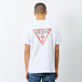 Tシャツ - GUESS【MEN】 [GUESS] BACK TRIANGLE LOGO S/S TEE 【ONLINE EXCLUSIVE ITEM】