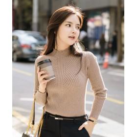 ★送料無料★ 【la select】 韓国ファッション 『スカラップ』 ボトルネック セーター ♪ 超売れ筋商品 工場直接仕入れの為、お安くご提供中です♪