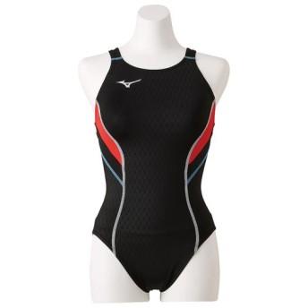 MIZUNO SHOP [ミズノ公式オンラインショップ] 競泳用ローカット(オープン)[レディース] 97 ブラックxレッド N2MA8240