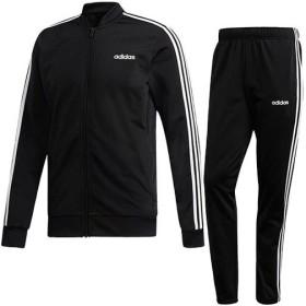 アディダス(adidas) メンズ ジャージ上下 M CORE 3ストライプス トリコットトラックスーツ ブラック/ホワイト FRW20 DV2448 トレーニングウェア