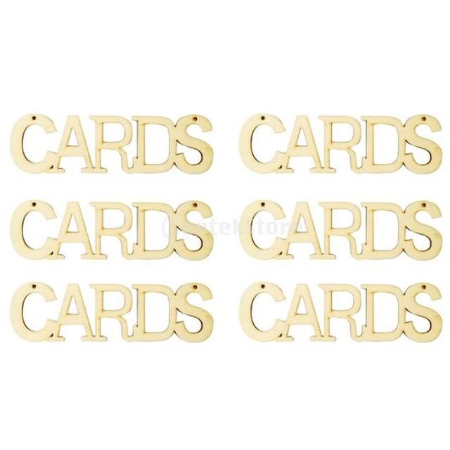 素朴な 結婚式 DIY クラフト 吊るす カード 木製のカードサイン 装飾 デコレーション