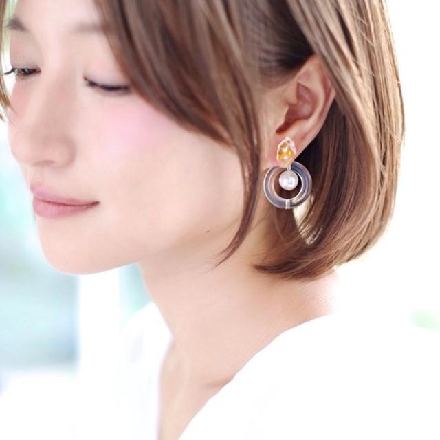 syrupshabom pierce/earring YELLOW