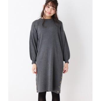 SHOO・LA・RUE/DRESKIP(シューラルー/ドレスキップ) 裾ボタンニットワンピース