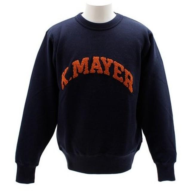 クリフメイヤー(KRIFF MAYER) サガラ刺繍スウェットクルー 1833101-4-NVY (Men's)