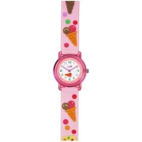 TCL53 J-AXIS キッズ デコウォッチ キッズウォッチ 子供腕時計 アイスクリーム ピンク サンフレイム