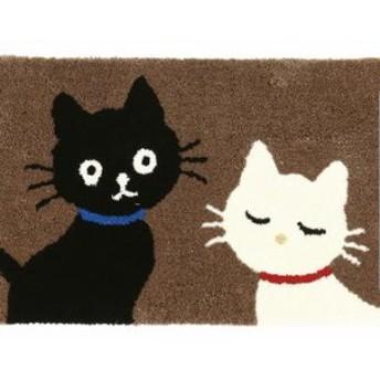 無地ネコ マット ねこ 猫 ネコ(送料無料)(マット、玄関、雑貨)