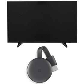 Google Chromecast GA00439-JP チャコールブラック+LUCA ハイビジョンテレビ 32インチ LT-32A320 ブラック アイリスオーヤマ