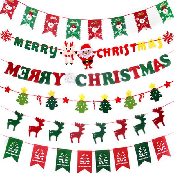 聖誕飾品 耶誕派對會場裝飾拉旗 麋鹿雪人樹 玩具玩偶 交換禮物 聚會居家 平安夜 節慶萬用 慶祝【PMG292】收納女王