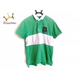 ポロラルフローレン POLObyRalphLauren 半袖ポロシャツ サイズXL メンズ グリーン×ピンク×白  値下げ 20190707
