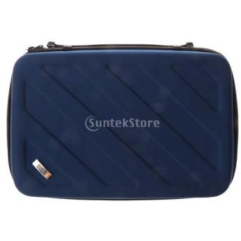 Gopro 対応 カメラバッグ 保護バッグ 収納ケース 防水 ナイロン製 全3色2サイズ - ブルー, L