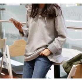 パーカー レディース パーカ 学生 おしゃれ ファッション ゆったり 重ね着風 長袖 秋 新発売 ストライプ 春