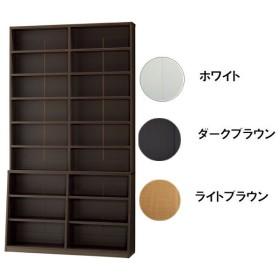 1cmピッチ壁面書棚 120幅 BM-1200 ホワイト 幅120×奥行30×高さ215cm 本棚・書棚・AVストッカー