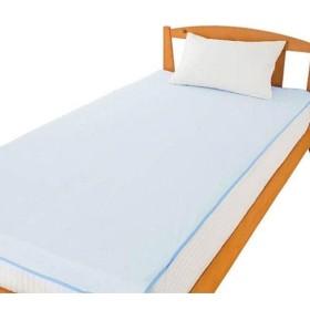 綿パイル防水シーツ(全面) ブルー 3919901